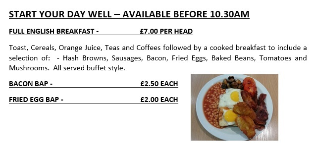 BOOK A HEARTY START TO YOUR DAY!